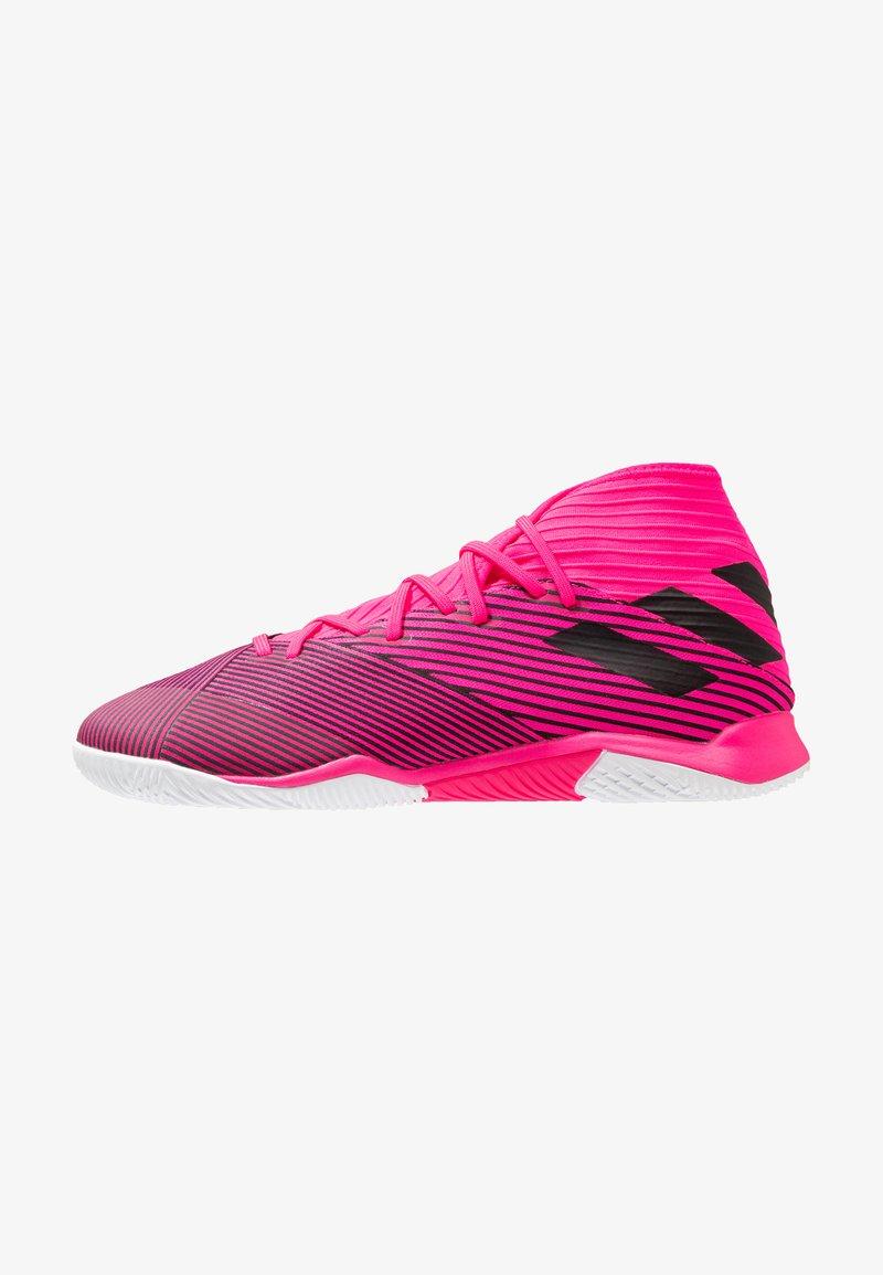 adidas Performance - NEMEZIZ 19.3 IN - Botas de fútbol sin tacos - shock pink/core black