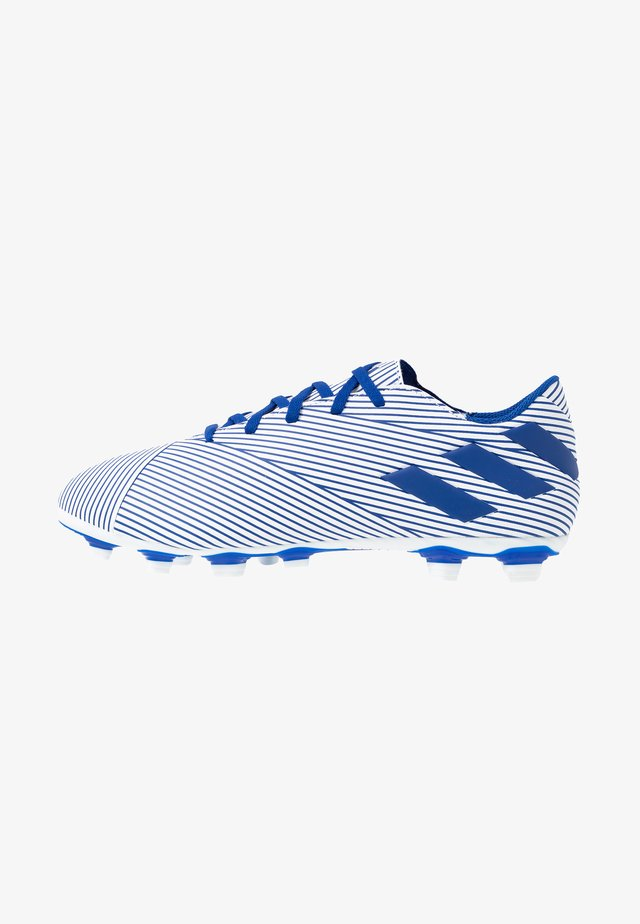 NEMEZIZ 19.4 FXG - Botas de fútbol con tacos - footwear white/royal blue/core black