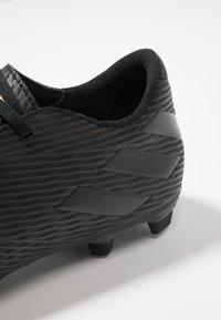 adidas Performance - NEMEZIZ 19.4 FXG - Voetbalschoenen met kunststof noppen - core black/utility black - 5