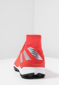 adidas Performance - NEMEZIZ 19.3 TF - Astro turf trainers - active red/silver metallic/solar red - 3