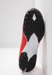adidas Performance - NEMEZIZ 19.3 TF - Astro turf trainers - active red/silver metallic/solar red - 4