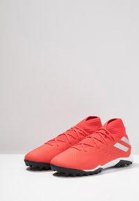 adidas Performance - NEMEZIZ 19.3 TF - Astro turf trainers - active red/silver metallic/solar red - 2