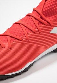 adidas Performance - NEMEZIZ 19.3 TF - Astro turf trainers - active red/silver metallic/solar red - 5