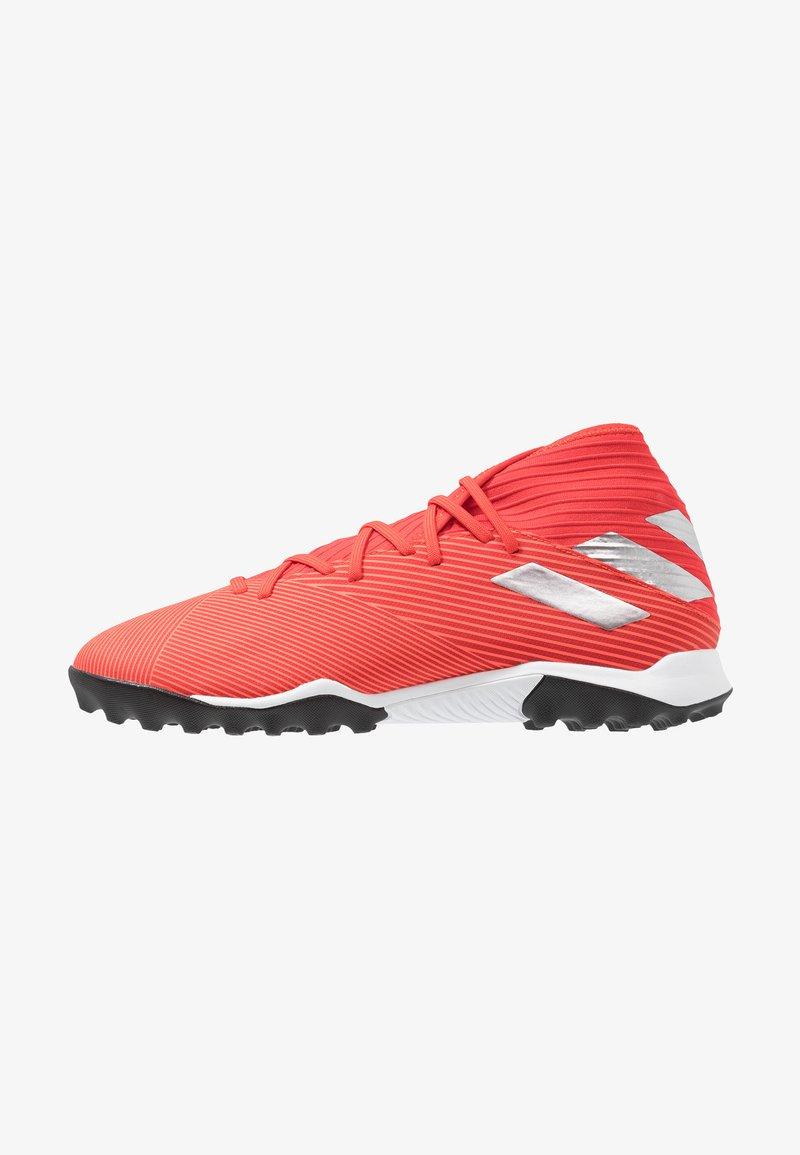 adidas Performance - NEMEZIZ 19.3 TF - Fodboldstøvler m/ multi knobber - active red/silver metallic/solar red