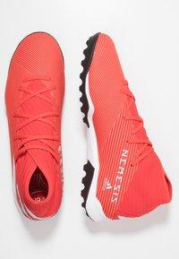 adidas Performance - NEMEZIZ 19.3 TF - Astro turf trainers - active red/silver metallic/solar red - 1
