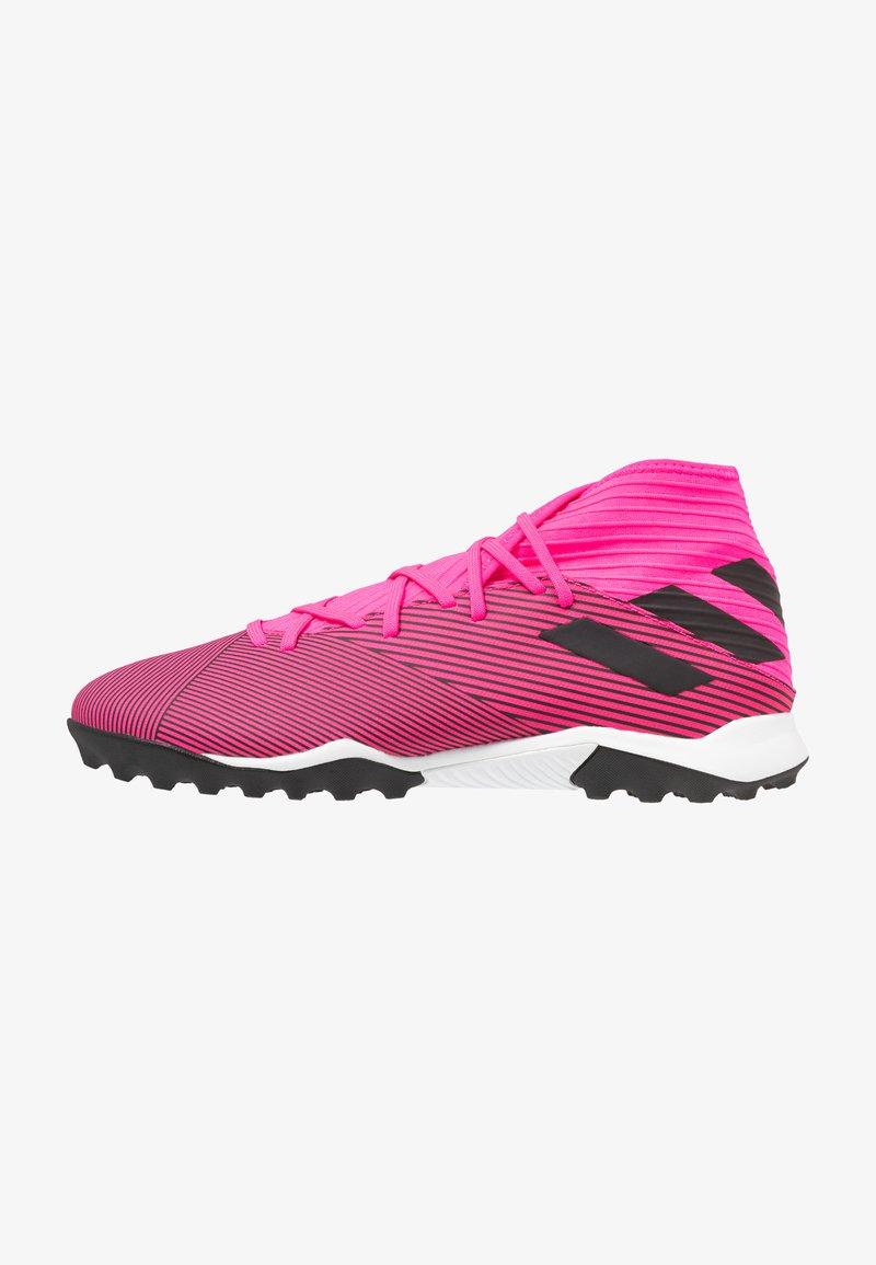 adidas Performance - NEMEZIZ 19.3 TF - Kopačky na umělý trávník - shock pink/core black