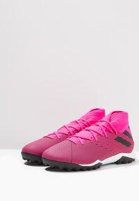 adidas Performance - NEMEZIZ 19.3 TF - Kopačky na umělý trávník - shock pink/core black - 2
