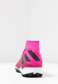 adidas Performance - NEMEZIZ 19.3 TF - Kopačky na umělý trávník - shock pink/core black - 3