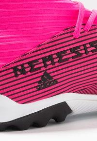 adidas Performance - NEMEZIZ 19.3 TF - Kopačky na umělý trávník - shock pink/core black - 5