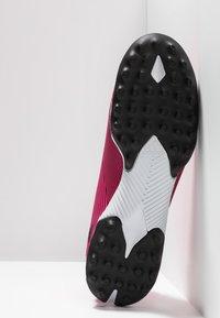 adidas Performance - NEMEZIZ 19.3 TF - Kopačky na umělý trávník - shock pink/core black - 4
