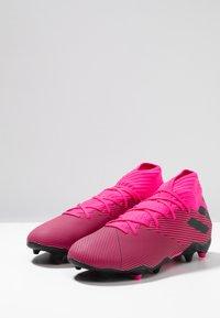adidas Performance - NEMEZIZ 19.3 FG - Voetbalschoenen met kunststof noppen - shock pink/core black - 2