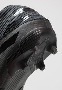 adidas Performance - NEMEZIZ 19.3 FG - Botas de fútbol con tacos - core black/utility black - 5