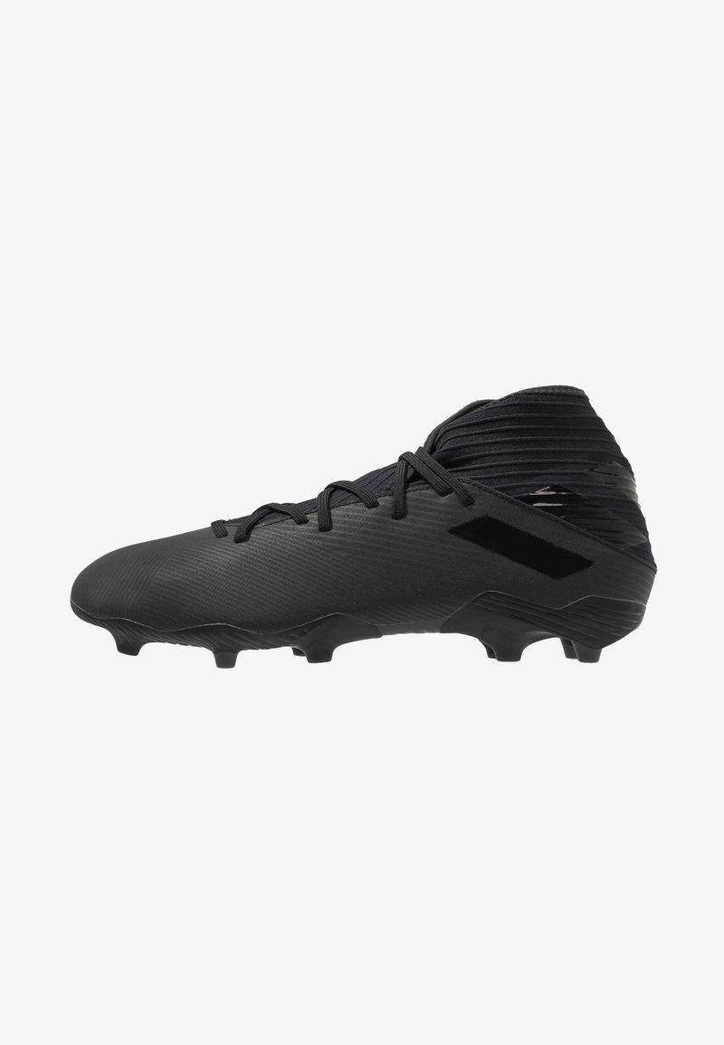 adidas Performance - NEMEZIZ 19.3 FG - Botas de fútbol con tacos - core black/utility black