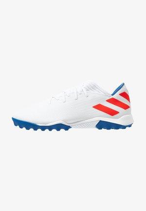 NEMEZIZ MESSI 19.3 TF - Fotbollsskor universaldobbar - footwear white/solid red/football blue