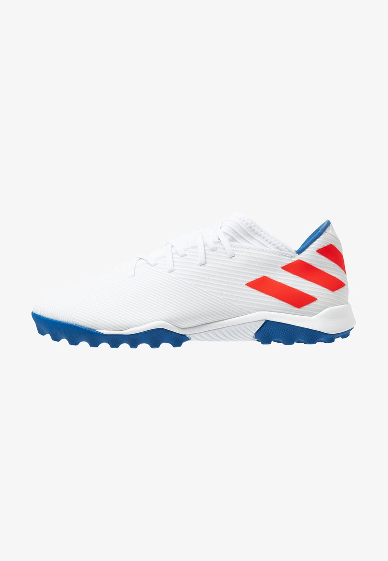 adidas Performance - NEMEZIZ MESSI 19.3 TF - Botas de fútbol multitacos - footwear white/solid red/football blue