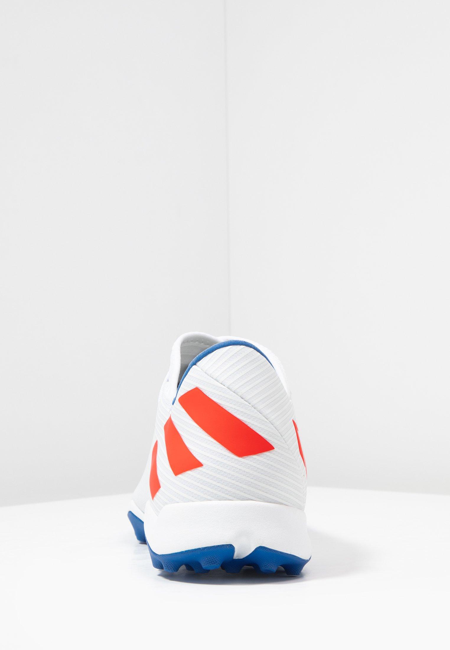 Adidas Performance Nemeziz Messi 19.3 Tf - Voetbalschoenen Voor Kunstgras Footwear White/solid Red/football Blue Goedkope Schoenen