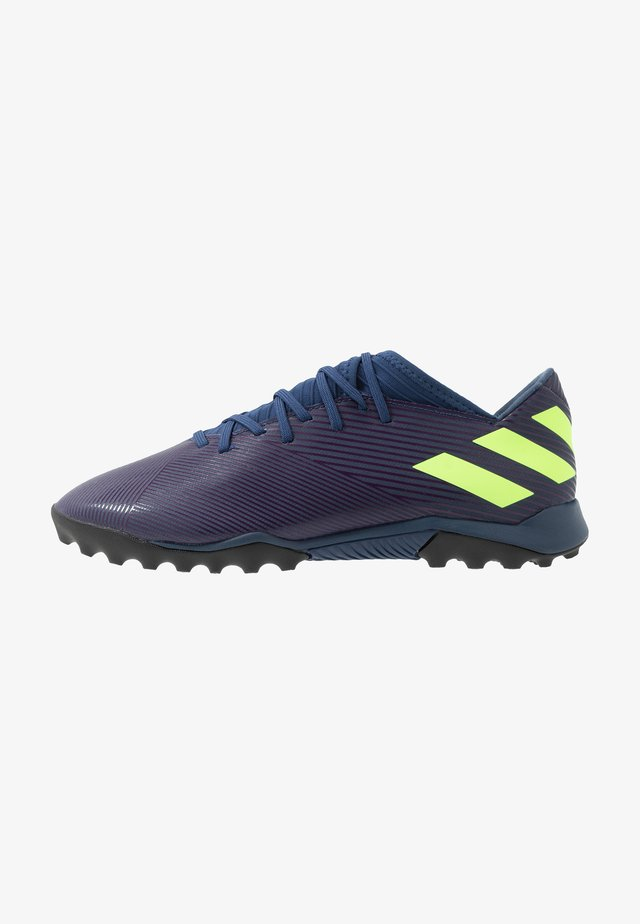 NEMEZIZ MESSI 19.3 TF - Botas de fútbol multitacos - tech indigo/signal green/glow purple