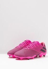 adidas Performance - NEMEZIZ 19.2 FG - Fodboldstøvler m/ faste knobber - shock pink/core black - 2