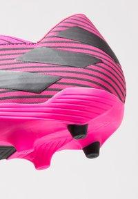 adidas Performance - NEMEZIZ 19.2 FG - Fodboldstøvler m/ faste knobber - shock pink/core black - 5