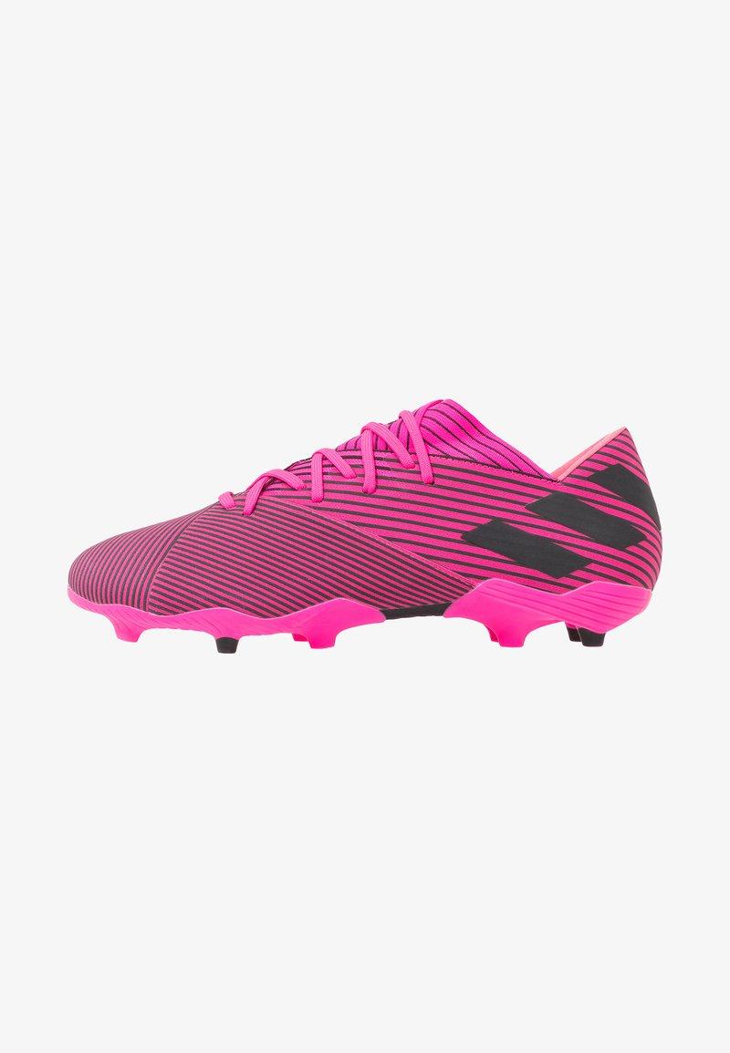adidas Performance - NEMEZIZ 19.2 FG - Fodboldstøvler m/ faste knobber - shock pink/core black