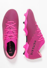 adidas Performance - NEMEZIZ 19.2 FG - Fodboldstøvler m/ faste knobber - shock pink/core black - 1