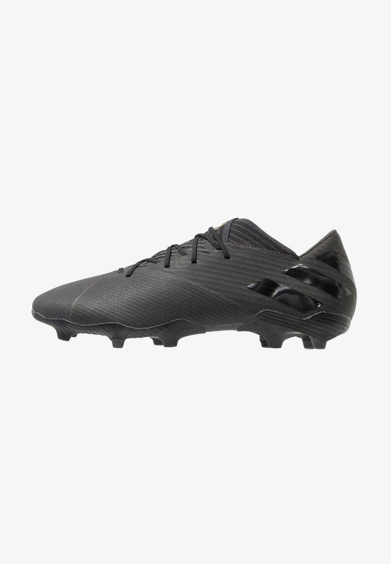 adidas Performance - NEMEZIZ 19.2 FG - Botas de fútbol con tacos - core black/utility black