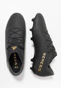 adidas Performance - NEMEZIZ 19.2 FG - Botas de fútbol con tacos - core black/utility black - 1