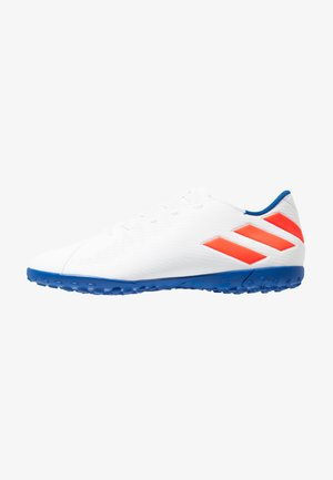 NEMEZIZ MESSI 19.4 TF - Voetbalschoenen voor kunstgras - footwear white/solar red/football blue