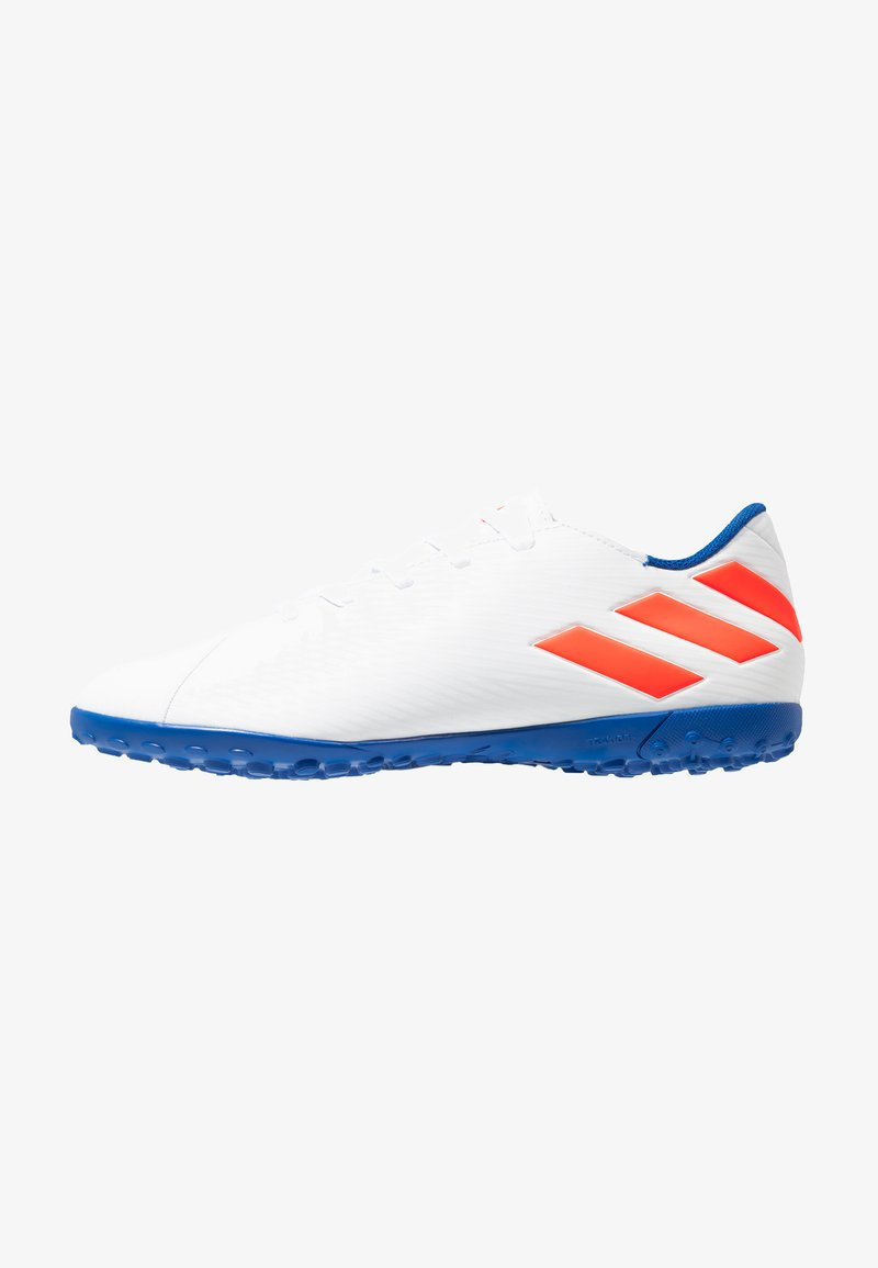 adidas Performance - NEMEZIZ MESSI 19.4 TF - Botas de fútbol multitacos - footwear white/solar red/football blue