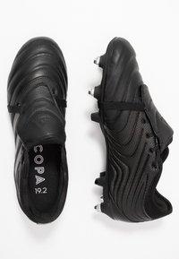 adidas Performance - COPA GLORO 19.2 SG - Skrueknopper - core black/silver metallic - 1
