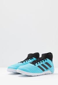 adidas Performance - PREDATOR 19.3 IN - Botas de fútbol sin tacos - bright cyan/core black/solar yellow - 2
