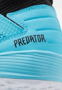 adidas Performance - PREDATOR 19.3 IN - Botas de fútbol sin tacos - bright cyan/core black/solar yellow - 5