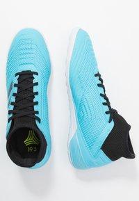 adidas Performance - PREDATOR 19.3 IN - Botas de fútbol sin tacos - bright cyan/core black/solar yellow - 1