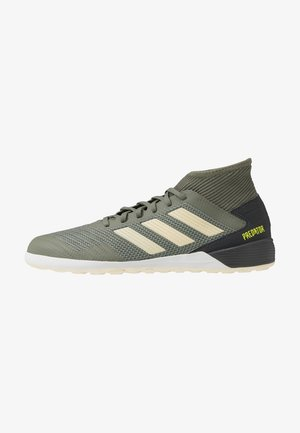 PREDATOR 19.3 IN - Futsal-kengät - legend green/sand/solar yellow
