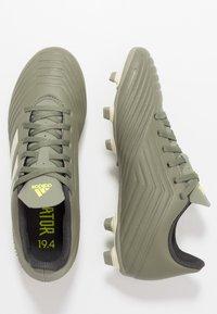 adidas Performance - PREDATOR 19.4 FXG - Tekonurmikengät - legend green/sand/solar yellow - 1