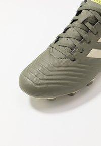 adidas Performance - PREDATOR 19.4 FXG - Tekonurmikengät - legend green/sand/solar yellow - 5