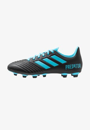 PREDATOR 19.4 FXG - Chaussures de foot à crampons - core black/bright cyan/solar yellow