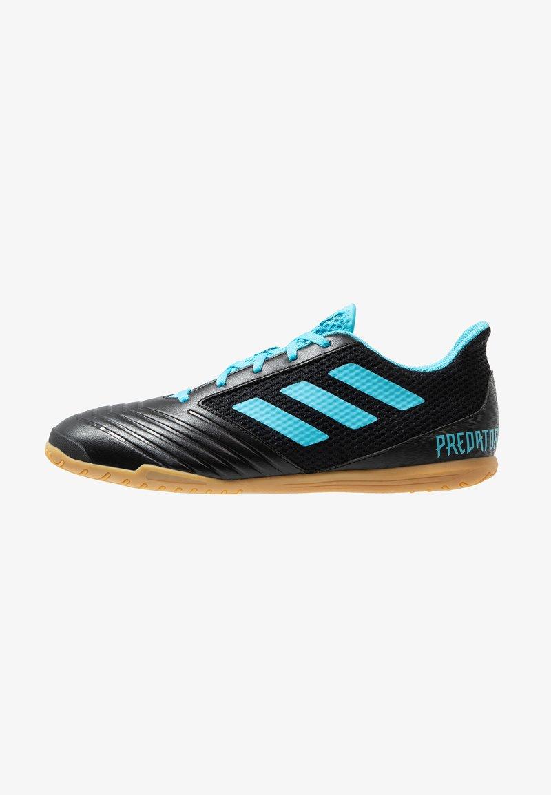 adidas Performance - PREDATOR 19.4 IN SALA - Fußballschuh Halle - core black/bright cyan/solar yellow