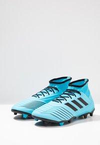 adidas Performance - PREDATOR 19.2 FG - Voetbalschoenen met kunststof noppen - bright cyan/core black/solar yellow - 2