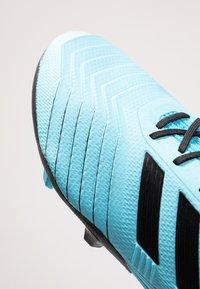 adidas Performance - PREDATOR 19.2 FG - Voetbalschoenen met kunststof noppen - bright cyan/core black/solar yellow - 5