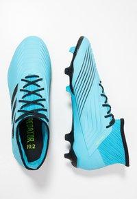 adidas Performance - PREDATOR 19.2 FG - Voetbalschoenen met kunststof noppen - bright cyan/core black/solar yellow - 1