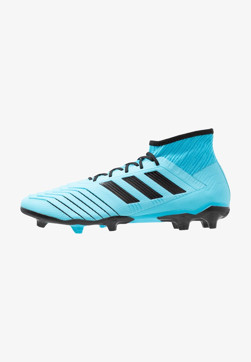 adidas Performance - PREDATOR 19.2 FG - Moulded stud football boots - bright cyan/core black/solar yellow