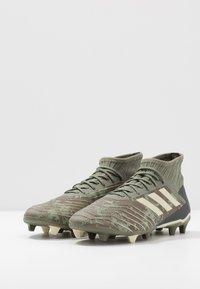 adidas Performance - PREDATOR 19.2 FG - Fotballsko - legend green/sand/solar yellow - 2