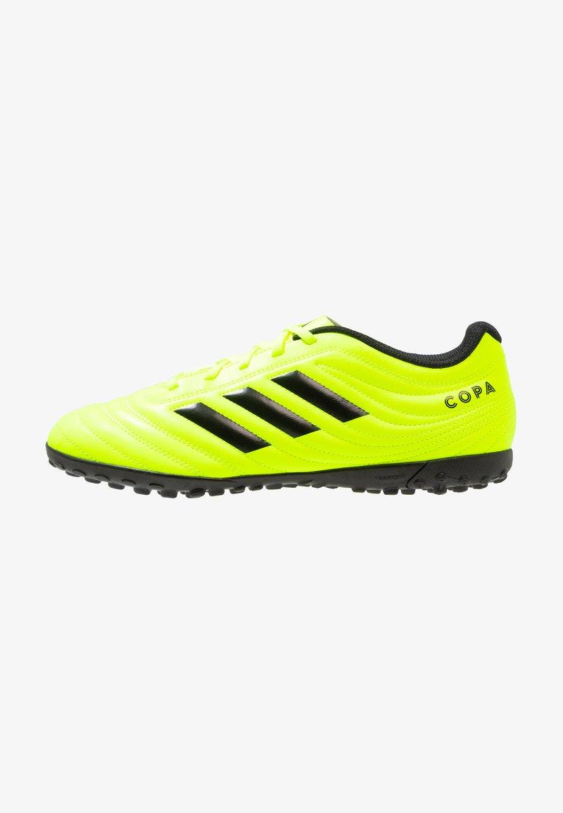 adidas Performance - COPA 19.4 TF - Voetbalschoenen voor kunstgras - solar yellow/core black