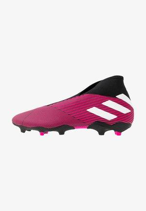 NEMEZIZ 19.3 LL FG - Chaussures de foot à crampons - shock pink/footwear white/core black
