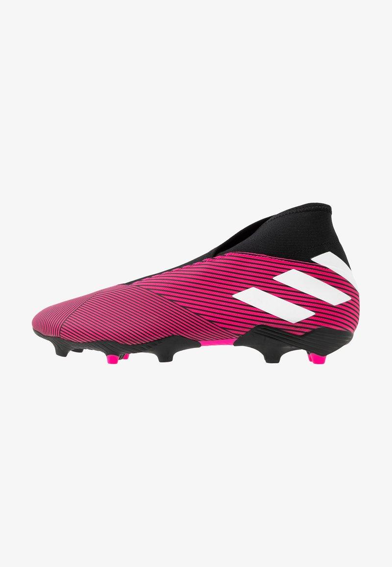adidas Performance - NEMEZIZ 19.3 LL FG - Botas de fútbol con tacos - shock pink/footwear white/core black