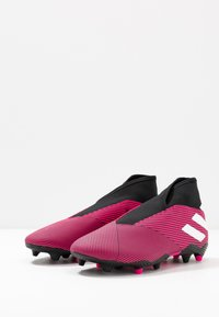 adidas Performance - NEMEZIZ 19.3 LL FG - Botas de fútbol con tacos - shock pink/footwear white/core black - 2