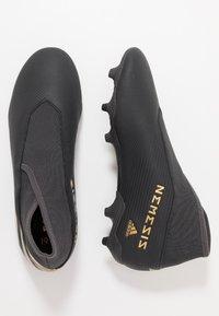 adidas Performance - NEMEZIZ 19.3 LL FG - Chaussures de foot à crampons - core black/gold metallic/utility black - 1
