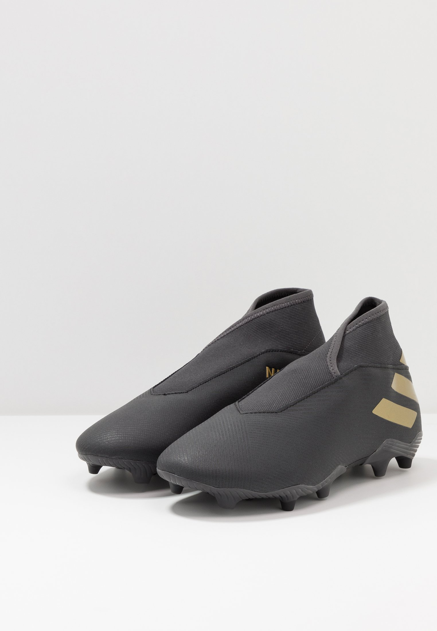 adidas Performance NEMEZIZ 19.3 LL FG - Korki Lanki - core black/gold metallic/utility black
