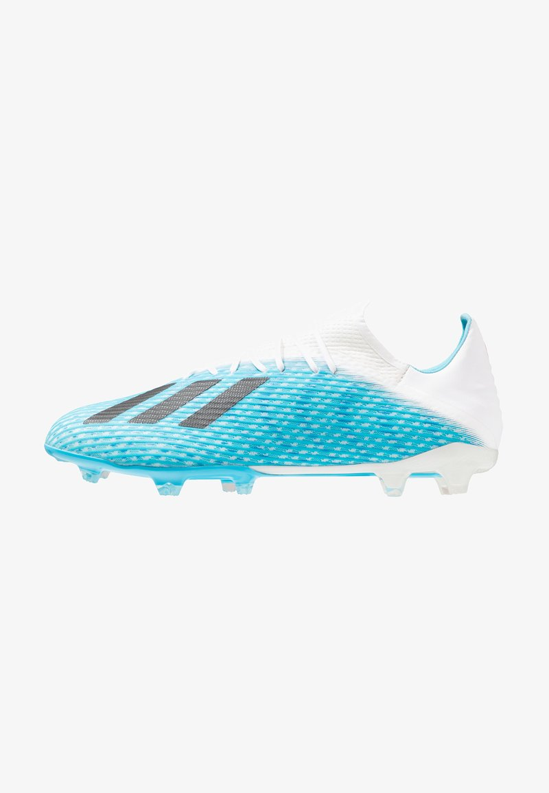 adidas Performance - X 19.2 FG - Moulded stud football boots - bright cyan/core black/shock pink